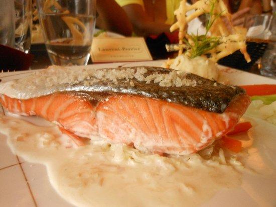 Restaurant Le Sully: Le pavé de saumon au sel