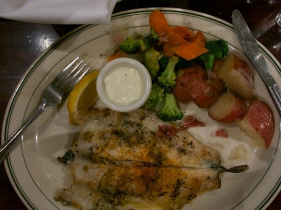Mc Grath's Public Fish House: Wood fired trout with vegetables