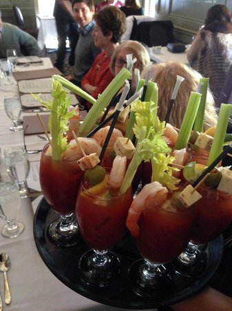 Lambertville Station Restaurant: yummy bloody marys for everyone