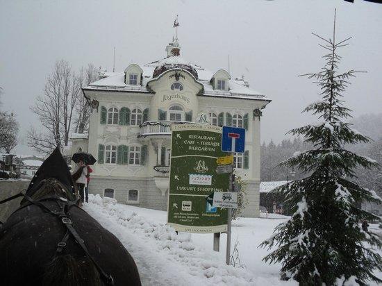 Hotel Muller Restaurant Acht-Eck : el camino de subida al Castillo Neuschwanstein