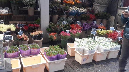 Flower Market / Bloemenmarkt: seller