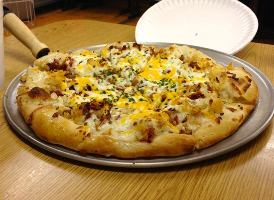 Baked Potato Pizza - Picture of Jim's, Clifton - TripAdvisor