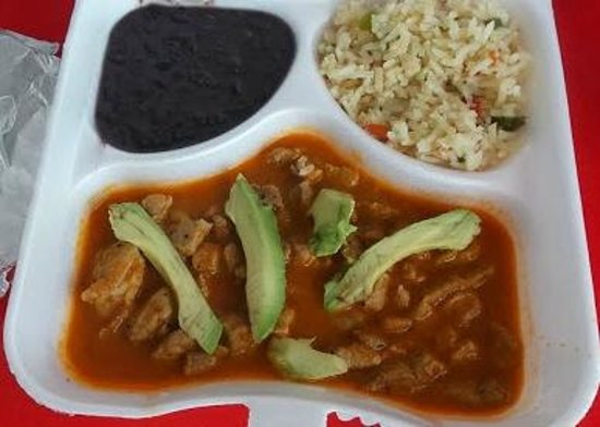 Las 3 Acapulquenas: Yummy chicken, beans and rice