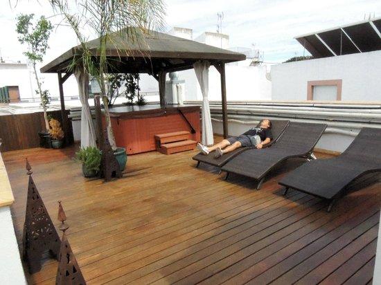 El Rey Moro Hotel Boutique Sevilla: terraza c/ yacuzzi