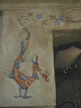 Jeanne D'arc : Painting on doorway to the diningroom
