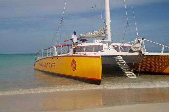 Sandals Grande Antigua Resort & Spa: Wadadli Cats Circumnavigation tour boat