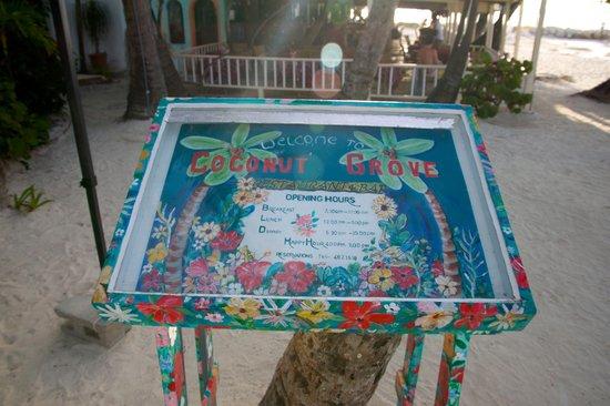 Sandals Grande Antigua Resort & Spa: Down the beach to the LEFT - Coconut Grove!!!!