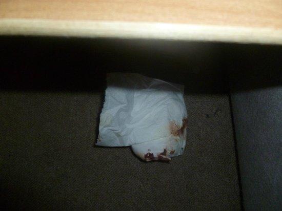 Maida Vale Aparthotel: Fazzoletti sporchi di sangue.Non posto il preservativo usato!!!
