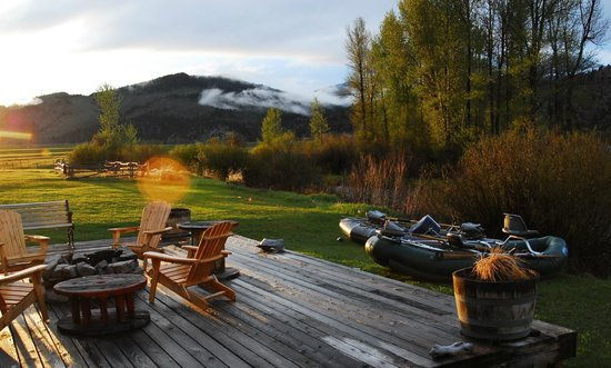 The Complete Fly Fisher : View of our deck overlooking the river.