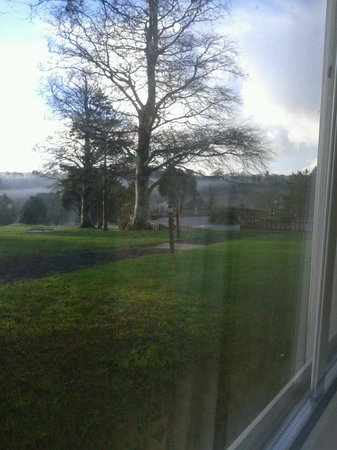 Elfordleigh Hotel: View from room of golf course
