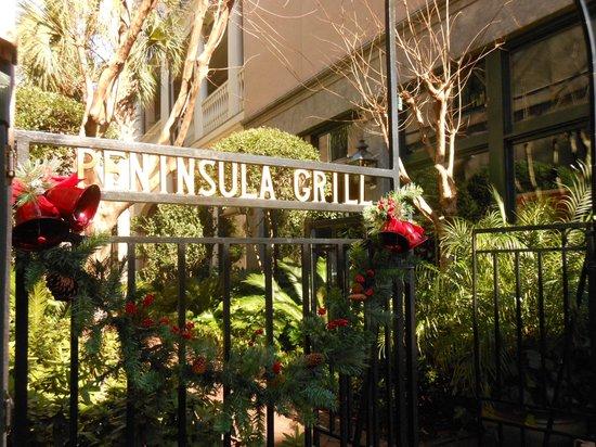 Entrance to Peninsula Grill through a lovely courtyard