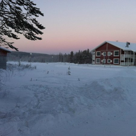 Lapland Hotel Akashotelli: Rooms Block F, 600 meters away from reception in -36ºC
