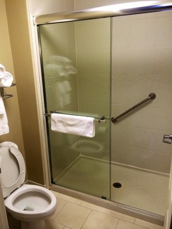 Staybridge Suites North Charleston: Large Tile Shower with Glass Doors
