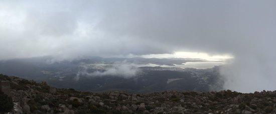 Mount Wellington: View of Hobart from Mt Wellington