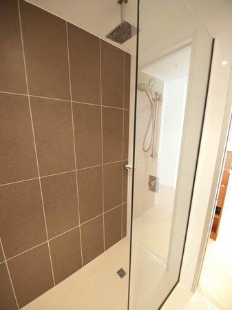 Novotel Christchurch Cathedral Square Hotel: The wonderful rain shower