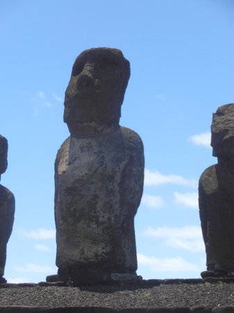 Ahu Tongariki: detalle