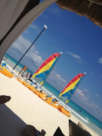 Secrets Maroma Beach Riviera Cancun: View from our private cabana