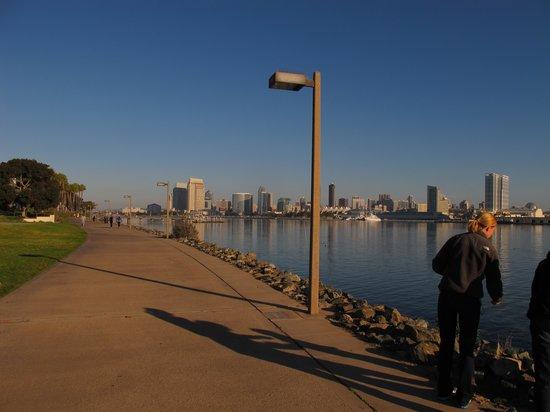 Coronado Island Marriott Resort & Spa: Walking path right next to hotel and villas