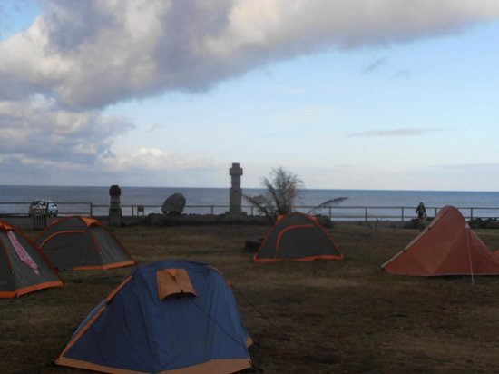Camping Mihinoa : vista desde el comedor