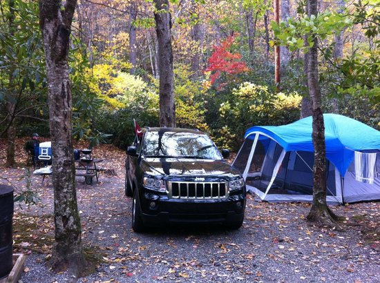 Indian Creek Campground: Our campsite
