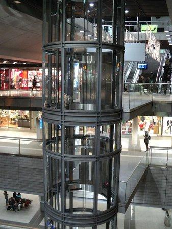 Berlin Hauptbahnhof: el ascensor