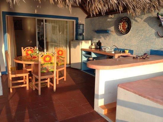 Casa Sun & Moon: Kitchen/terrace area outside our room. (Private)