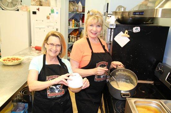 Debi and Shirley in Sweet Mermaids kitchen