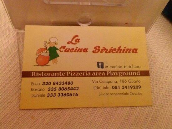 Visitcard foto di la cucina birichina quarto tripadvisor - Cucina birichina quarto ...