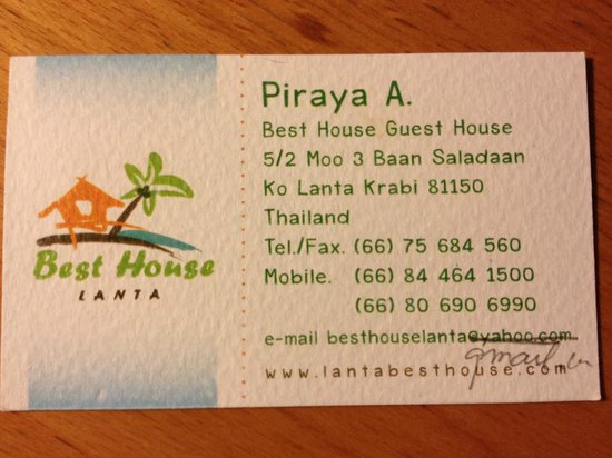 Best House: business card