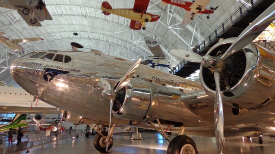 National Air and Space Museum: shiny one - one of over 200 aircaft on display