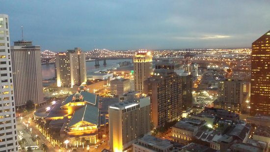 New Orleans Marriott : View from our room on the 37th Floor