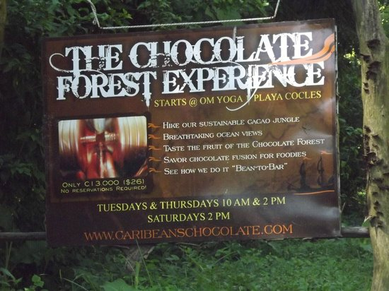 Caribeans Coffee & Chocolate: This sign is just north of the entrance