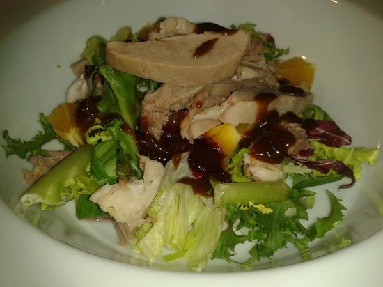 The Heath Inn: Aromatic Duck Salad with Orange, Cranberry and Hoi Sin Dressing