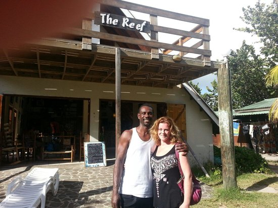 The Reef Beach Cafe: At the Reef!