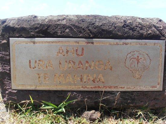 Ahu Huri a Urenga: cartel