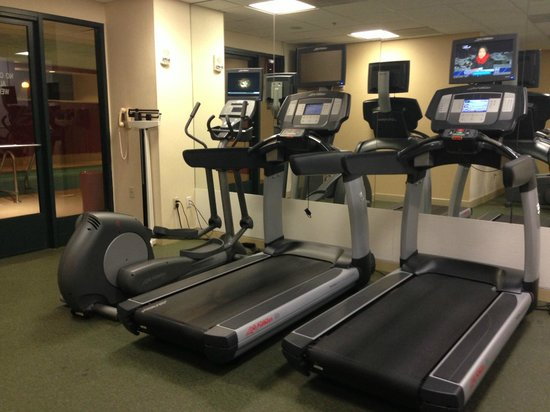 Chicago Marriott Suites Deerfield : Cardio - machines are also behind the pool as well (outside the fitness center)