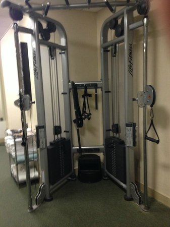 Chicago Marriott Suites Deerfield : Multi-function equipment allows for a good workout, however the attachments are limited or missi