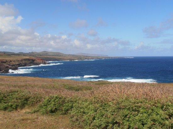 Ahu Vinapu: vista del oceano
