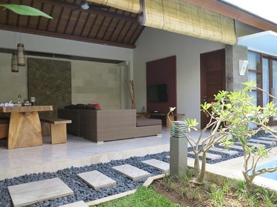 Lumbini Luxury Villas and Spa: one bedroom villa-view to living hall
