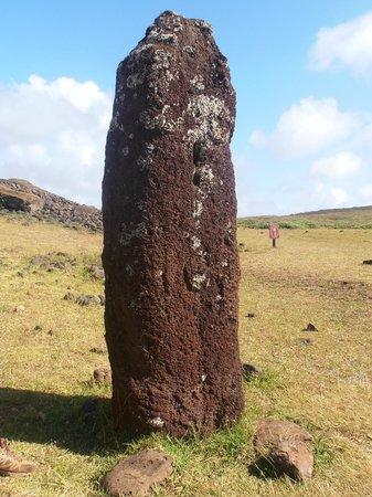 Ahu Vinapu: moai mujer