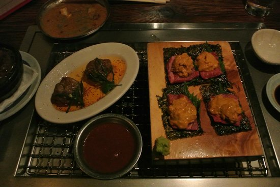 Takashi: kobe beef and uni