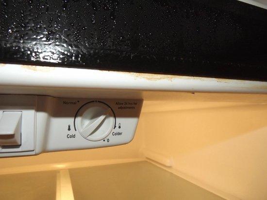 Beso Del Sol Resort: rust on fridge