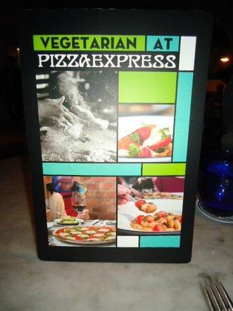 Pizza Express Soho Square : Vegetarian Menu