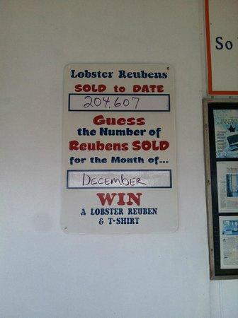 Keys Fisheries: Number of Rueben's sold as of December 2013!