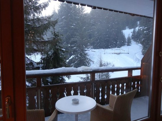 Arabella Hotel Waldhuus Davos: The view from our room