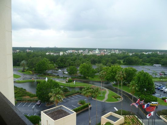 Hilton Orlando Buena Vista Palace Disney Springs: All 4 parks can be seen from balcony