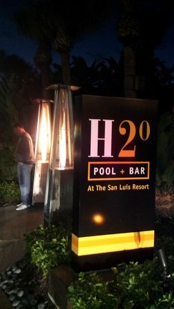 The San Luis Resort: Entrance to H20 with Heaters