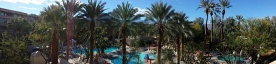Hyatt Regency Indian Wells Resort & Spa: pool view from room #3326