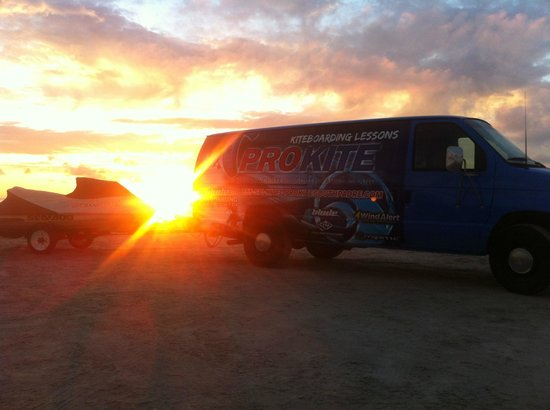 Prokite lesson van, look for it on the beach at South Padre Island and ride with us!