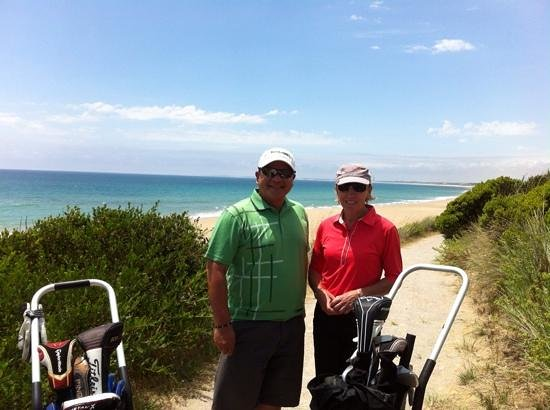 Barnbougle Lost Farm : on the way to the par 3, 5th hole